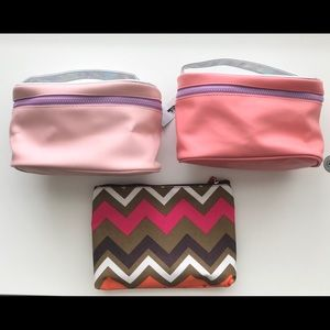 3 Makeup zip bag pouch Travel Toiletry